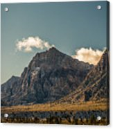 Clouds Over Red Rock Canyon Acrylic Print