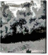 Clouds Over St Thomas At Dusk 1 Acrylic Print