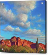 Clouds Over Superstitions Acrylic Print