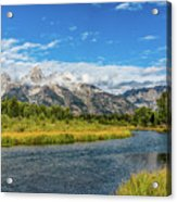 Clouds Over The Grand Tetons Acrylic Print