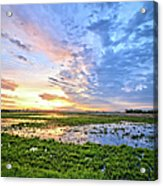 Clouds Over The Marsh 4 Acrylic Print