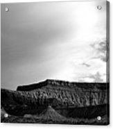 Clouds  Over The Mesa Acrylic Print