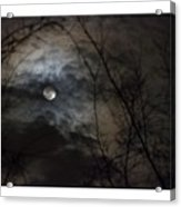 Clouds Over The Moon Acrylic Print