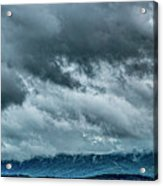 Clouds Over The Mountans 1329tmt Acrylic Print