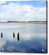 Clouds Over The Mullica River Acrylic Print