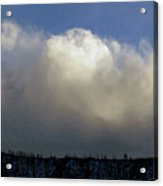Clouds Over The Ridge Acrylic Print