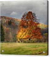 Clouds Part Over Marsh Billings-rockefeller Nhp Acrylic Print