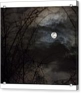 Clouds Passing The Snow Moon Acrylic Print