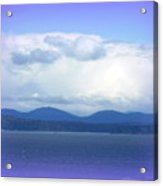 Clouds Puget Sound Acrylic Print
