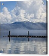 Clouds Reflecting Off Priest Lake Acrylic Print