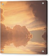 Clouds With Reflections Acrylic Print