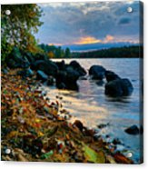 Cloudy Autumn Sunset Acrylic Print