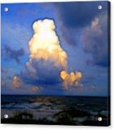 Cloudy Beach Acrylic Print