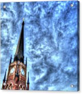Cloudy Cathedrial Painting Acrylic Print