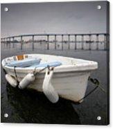 Cloudy Coronado Island Boat Acrylic Print
