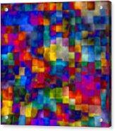 Cloudy Cubes Acrylic Print