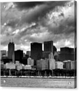 Cloudy Day Chicago - 2 Acrylic Print
