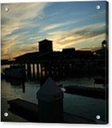 Cloudy Docks Acrylic Print