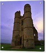 Cloudy Donnington Castle Acrylic Print