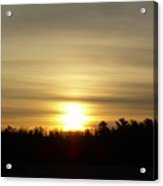 Cloudy Golden Sky At Dawn Acrylic Print