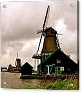 Cloudy Holland Acrylic Print