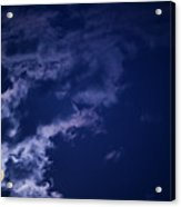 Cloudy Moon With Jupiter Acrylic Print