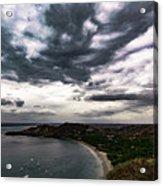 Cloudy Ocean View Acrylic Print
