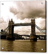 Cloudy Over Tower Bridge Acrylic Print