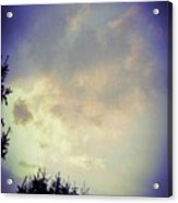 Cloudy Sky Before A Storm Acrylic Print
