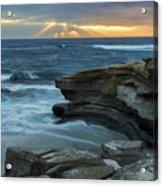 Cloudy Sunset At La Jolla Shores Beach Acrylic Print