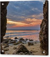Cloudy Sunset At Low Tide Acrylic Print