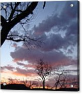 Cloudy Sunset One Acrylic Print