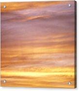 Cloudy Sunset Sky Acrylic Print