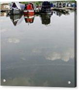 Cloudy Water At Barton Marina Acrylic Print