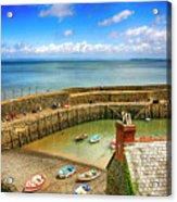 Clovelly Harbor In Devon, Uk Acrylic Print