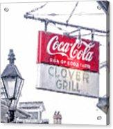 Clover Grill Coke Sign Acrylic Print