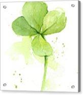 Clover Watercolor Acrylic Print
