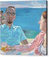 Clovis And Bethany At Tobacco Bay, Bermuda Acrylic Print