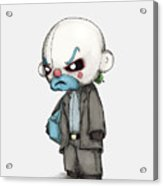 Clown Bank Robber Plush Acrylic Print