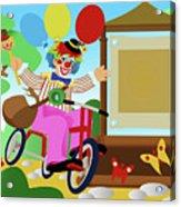 Clown Greeting Acrylic Print