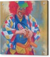 Clown Making Balloon Animals Acrylic Print