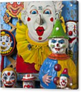 Clown Toys Acrylic Print by Garry Gay