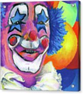 Clown With Balloons Acrylic Print