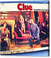 Clue Board Game Painting Acrylic Print