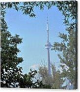 Cn Tower Framed Acrylic Print