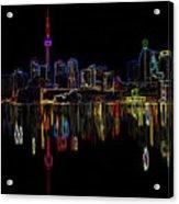 Cn Tower Outline Acrylic Print