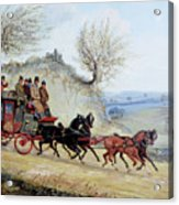 Coaching Oil Of A Royal Mail Coach Crossing Landscape Acrylic Print