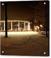 Coady International Institute Winter Night Nova Scotia Acrylic Print