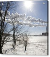 Coal Fired Power Plant In Winter Acrylic Print