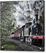 Coal Tank Engine In The Rain Acrylic Print